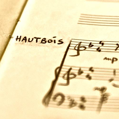 Arrangements et transcriptions Hautbois