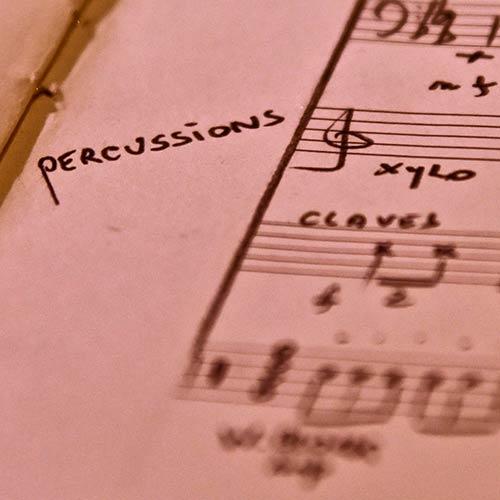 Percussions et piano