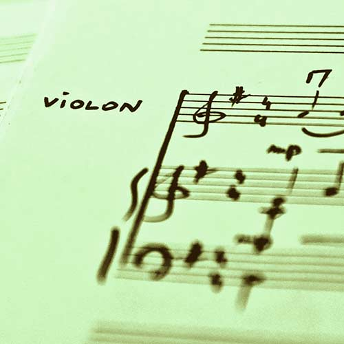 Arrangements et transcriptions violon